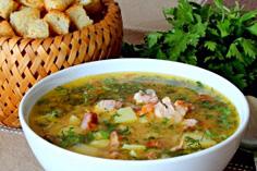 Гороховый суп пюре с копчёностями
