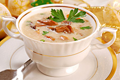 Суп пюре из вешенки