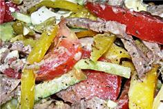 салат с языком и грибами