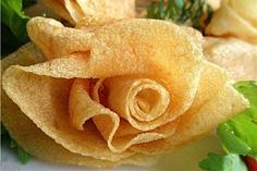 Бутон Розы из картофеля